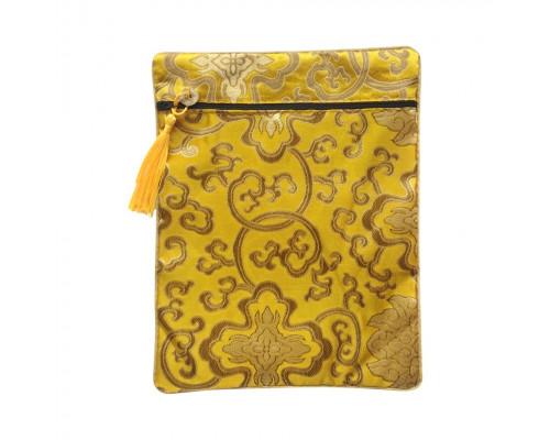 Декоративная подарочная сумка в восточном стиле (жёлтая)