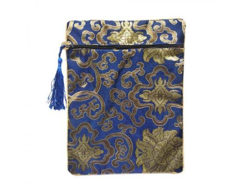 Декоративная подарочная сумка в восточном стиле (синяя)