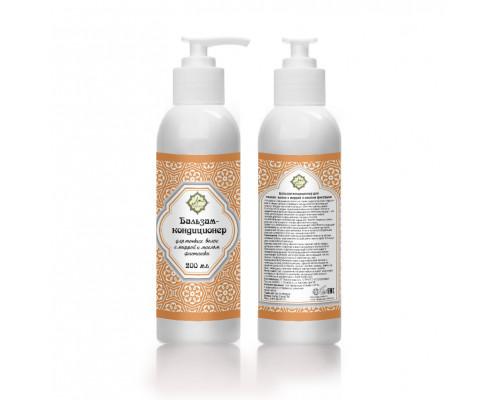 Бальзам-кондиционер с миррой и маслом фисташки (для сухих волос)