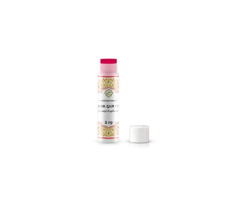 Оттеночный бальзам для губ с клубникой и маслом жожоба